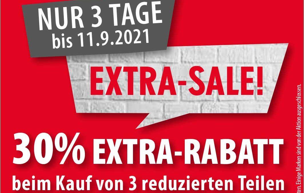 Noch drei Tage Extra-Sale